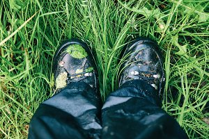 Wet trekking boots