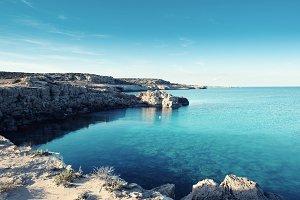 Sea rocky coast