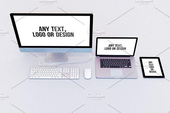 Imac Macbook And Ipad Mock-Up