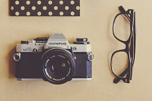 Film camera and notebook