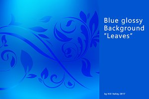 "8k blue glossy background ""Leaves"""