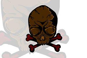 Skull face logo