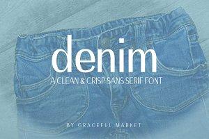 Denim Sans Serif Font