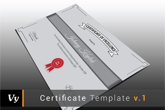 Certificate Template v.01 - Stationery
