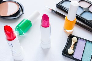 lipstick and other cosmetics