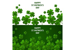 Saint Patrick's Day Horizontal Banners