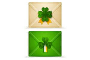 Saint Patrick's Day Envelopes with Clovers Seal