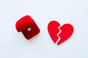 broken heart and a wedding ring