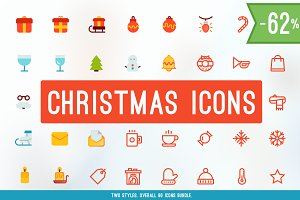 Merry Christmas Icons BUNDLE! -62%