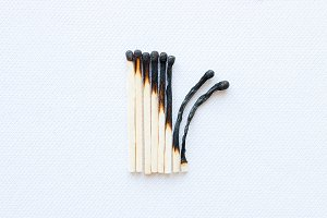stage of burning matches