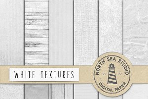 White Textures Digital Paper