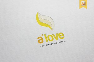 A'love Logo Template