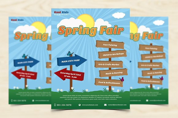 Spring Fair Flyer ~ Flyer Templates ~ Creative Market