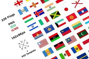 228 Flat Flags