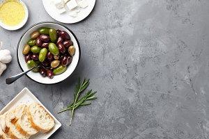 Fresh olives bowl