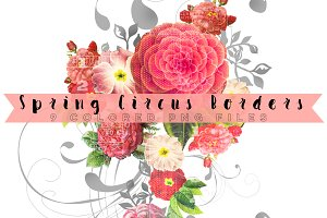 Spring Circus Borders