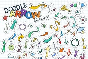 Doodle Arrow Stickers