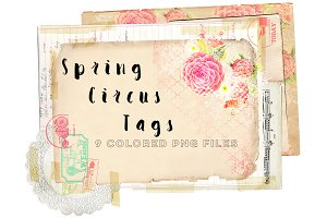 Spring Circus Tags