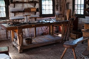Vintage Woodworking Shop