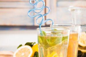 Lemonade in glass