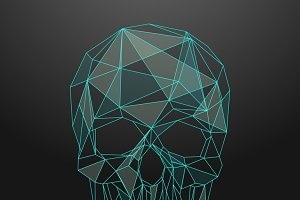 Low poly skull