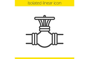 Gas pipe valve icon. Vector