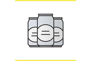 Beer cans icon. Vector