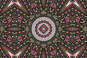 Ornamental round aztec pattern