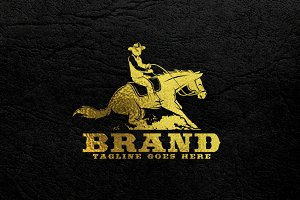 Reining Horse Logo