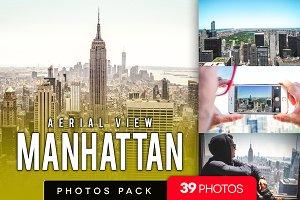 aerial view Manhattan /39 pics