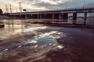 Viaduct from Los Angeles River