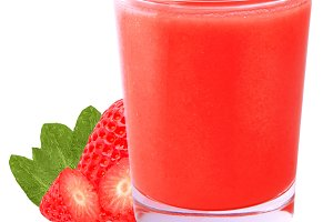 Isolated strawberry smoothie