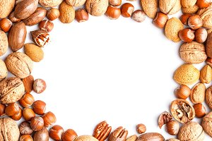 Frame with nuts