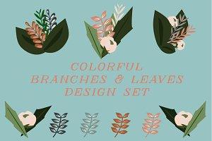 Branches & Leaves Design Set