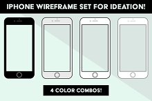 iPhone Wireframes for Ideation