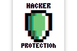hacker protection emblem