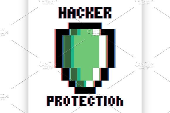 hacker protection emblem