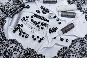 Thread, pins, thimbles.