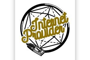 internet provider emblem