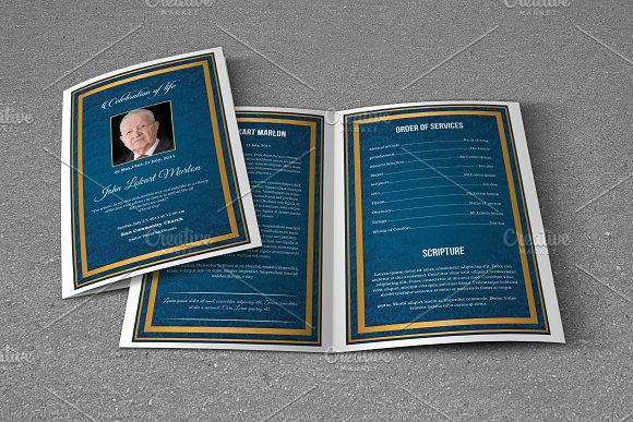 Funeral Program Template-T672