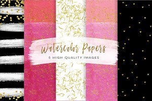 black and pink gold paper,