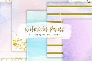 Whimsical ombre digital paper