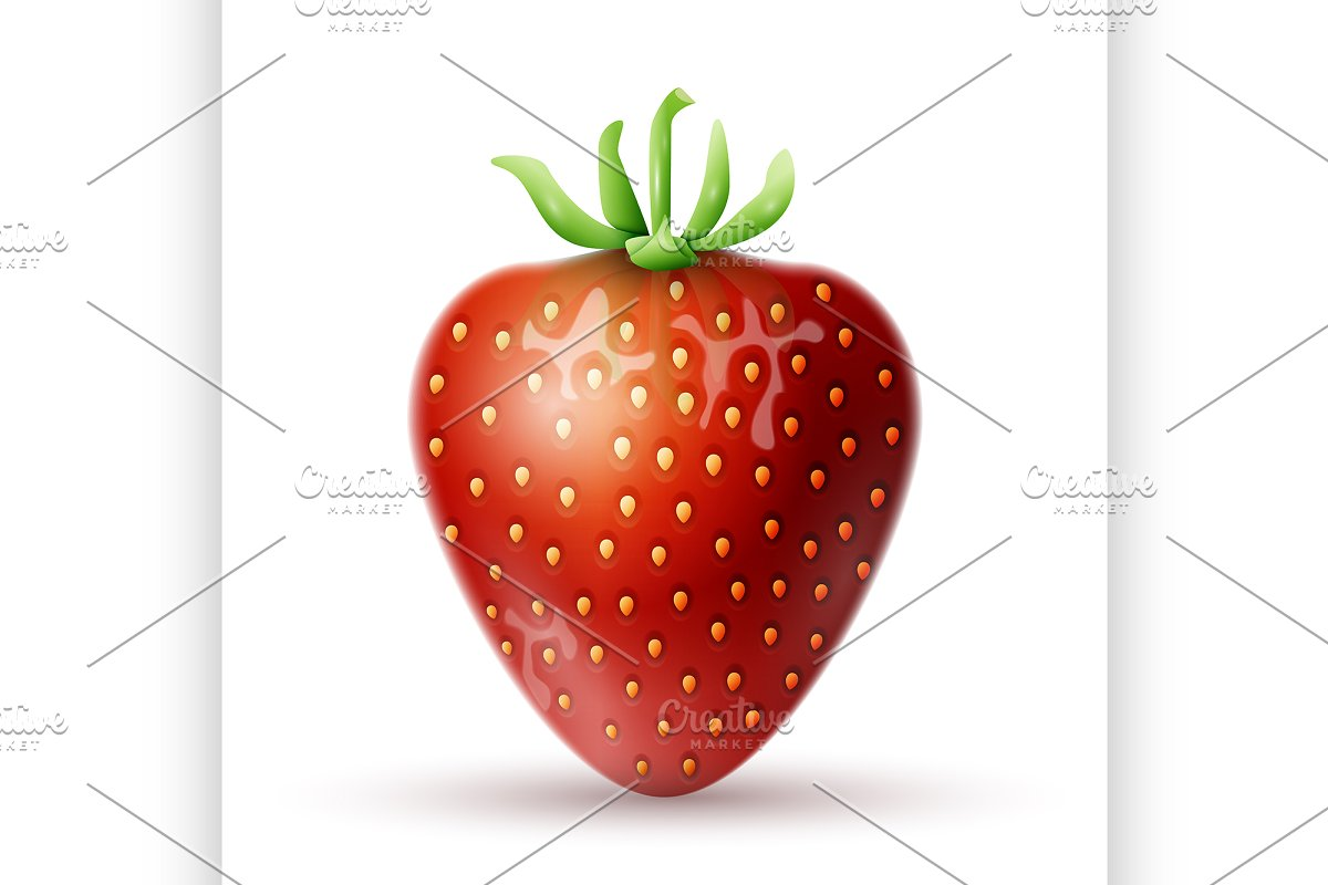 Red Strawberry icon in Illustrations - product preview 8