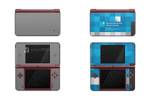 Nintendo DSI XL Skin Decal Design