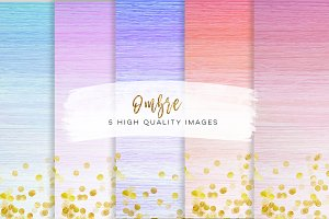 Watercolour ombre paper