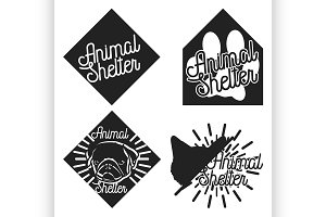 Vintage animal shelter emblems