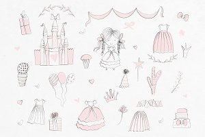 Princess Party Doodle Set