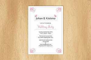 Wedding Invitation Card Template