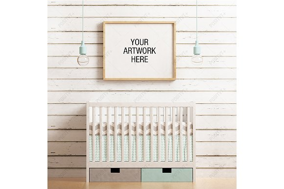 Download Frame Mockup Nursery Theme