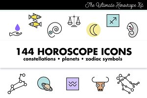 Horoscope Astrology Sign Icons